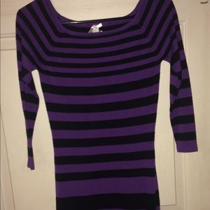 Derek Heart black and purple sweater dress!